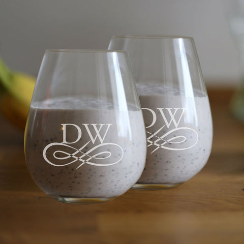 Valentine's Day Personalised Stemless Wineglass