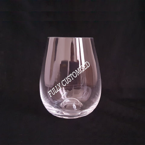 Fully Customised - Stemless Wineglass