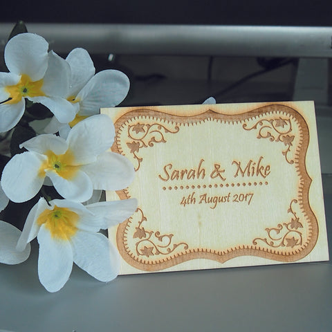 Personalised wooden coasters as wedding favors (Set of 10)