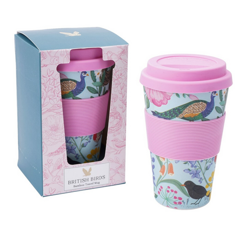 Bright and Colorful Bamboo Travel Mug