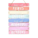 Colorful Wooden Plaque for Nursery