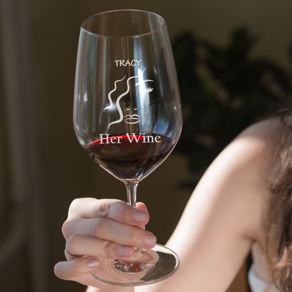 Personalised Red Wine glass as a gift for mum - Mothers day