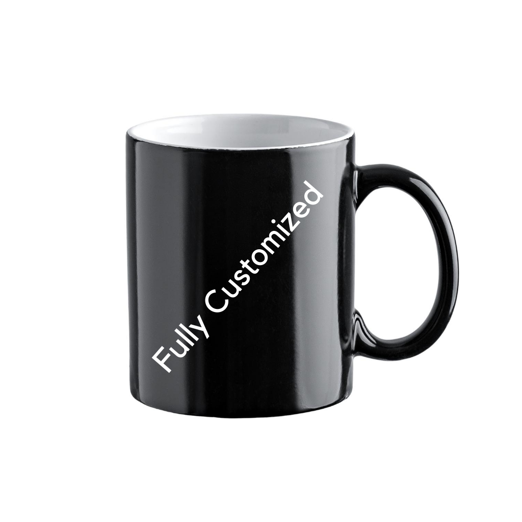 Fully Customized Magic Mug - Black and White Colour
