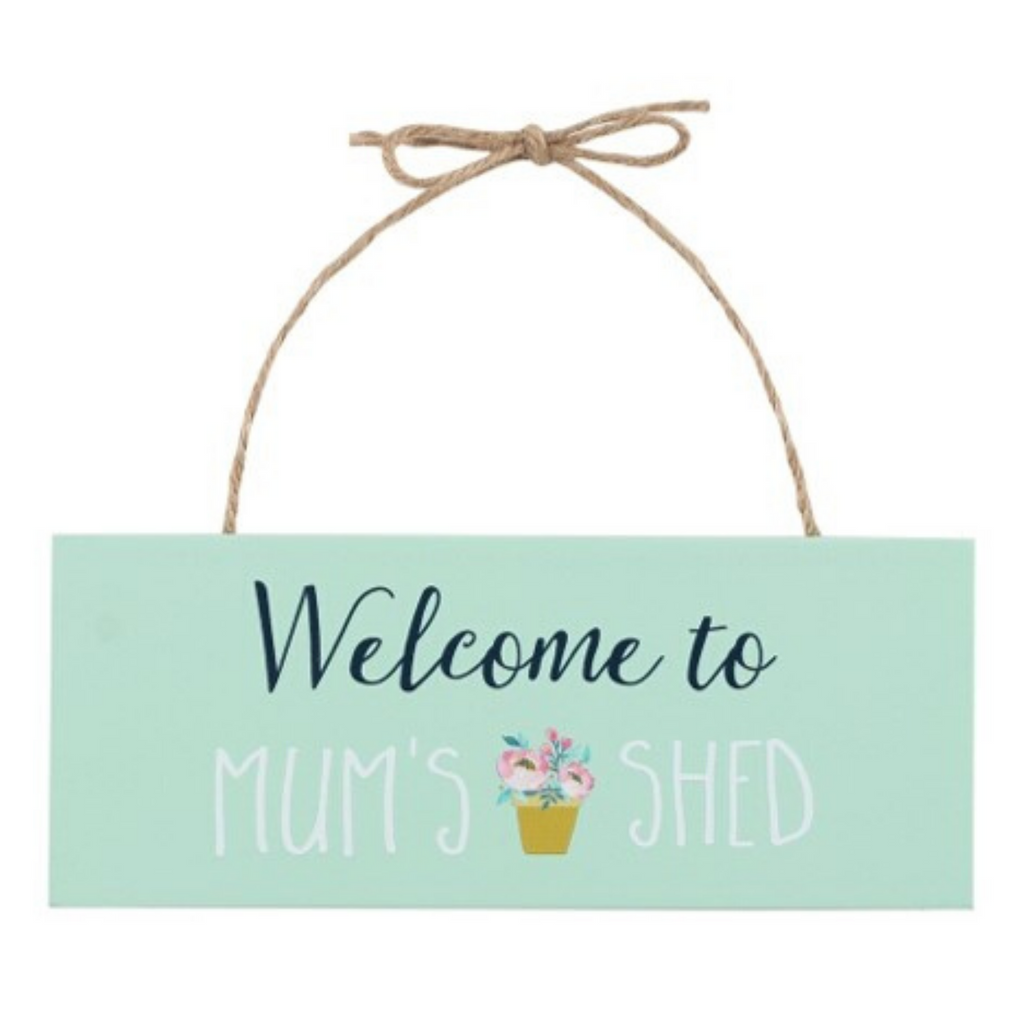 Picturesque Wooden Mum's Shed Sign