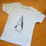 Infant Embriodered T-shirt with Name and Monogram