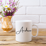 Personalised with Name Mug - White Colour