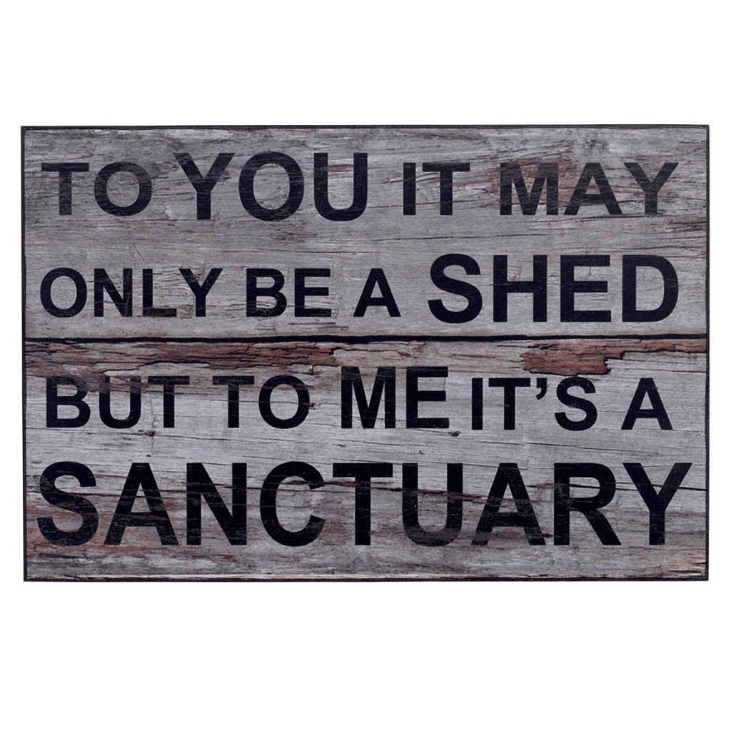 Rustic Style Sanctuary Sign
