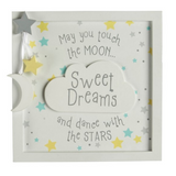 Touch The Moon Wooden Sign for Nursery or Kid's Room Decor
