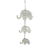 Modern Elephant Hanging Sign for Nursery Decor