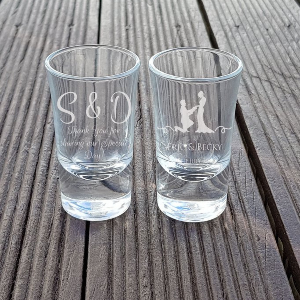 Shot Glass Personalised Wedding Favors