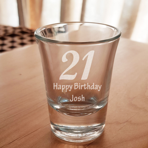Personalised Milestone Birthday Shot Glass