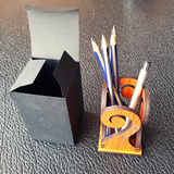 Pen Holder - Laser Cut from Rimu Wood
