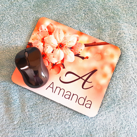Mouse Pad Personalised with Name & Initial