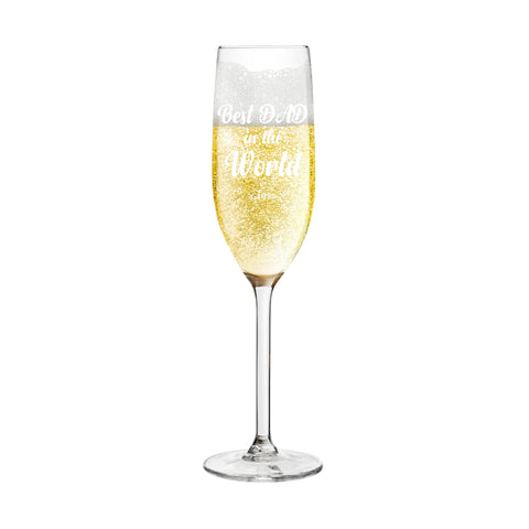 Best Fathers Day Champagne Flute Personalised