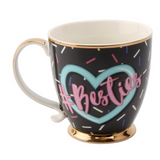 Gold Rimmed #Besties Mug
