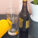 Father's Day DAD EST. Hour Beer Glass