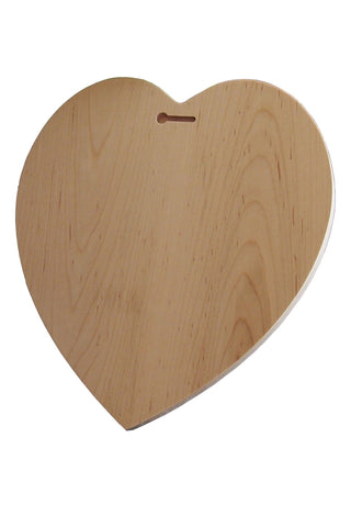 Engraved Heart Shaped Wooden Plaque - Wedding Gift