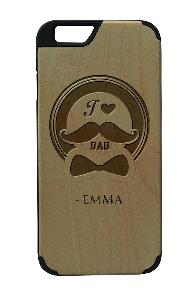 Fathers Day Personalised IPhone 6/6S Wooden Case