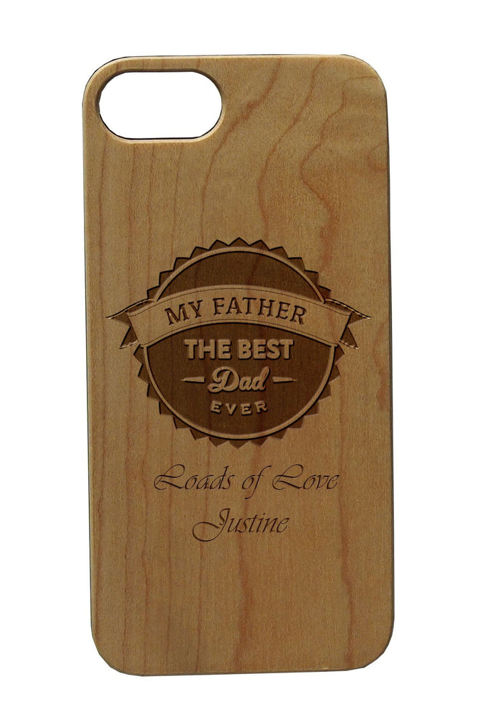 Fathers Day Personalised IPhone 7/7Plus Wooden Case