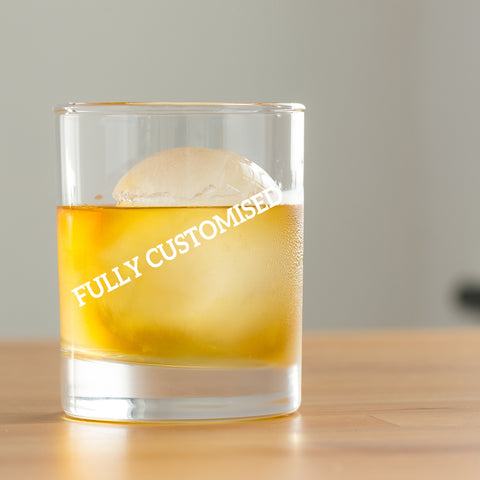Fully Customised Round Whiskey Glasses