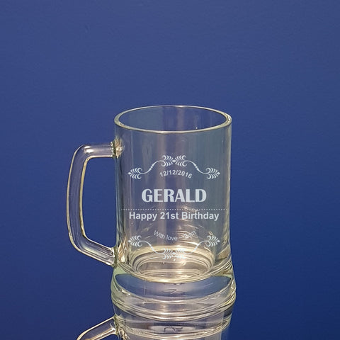 21st Birthday Beer Mug Personalised