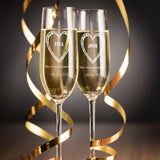 Champagne Flutes Personalised Wedding toast glasses