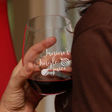 Stemless Wineglass as Christmas Gift - Jingle juice