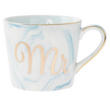 Mr Blue Marble and Gold Small Coffee Cup