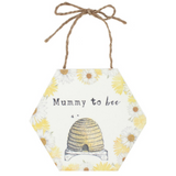 Bee Hive Mummy to Be Wooden Sign