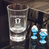 Groomsmen Shot Glass Wedding Favors