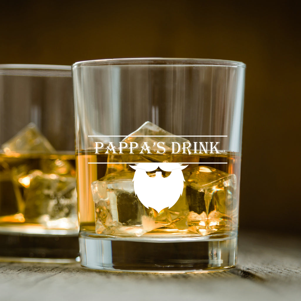 Pappa's Drink - Father's Day Whiskey Glass