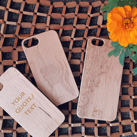 Personalised Wooden iPhone Case for 5/5S/SE/6/6S/6Plus/6SPlus/7/7Plus | Mothers Day Gift