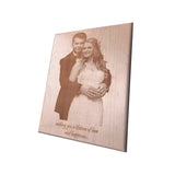 Engraved Wooden Plaque, Wedding Gift Personalised