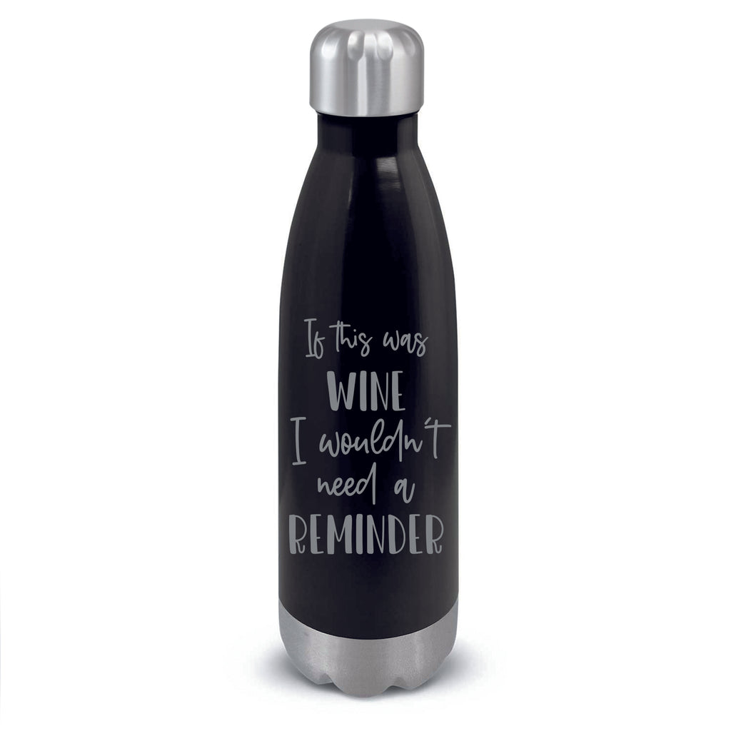 Stainless Steel Bottle Personalised with Funny Quote