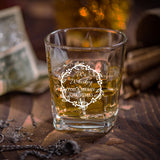 Personalised Square Whiskey Glass as Christmas Gift for any WHISKEY LOVER
