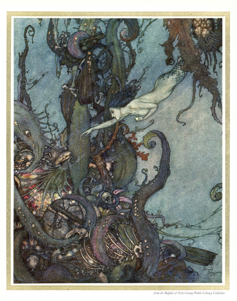 B is for Book Poster: Andersen's The Mermaid