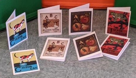 B is for Book Notecards (Pack of Eight) - Set 3