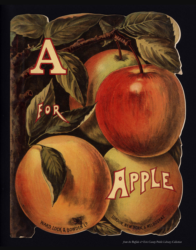 B is for Book Poster: A is for Apple