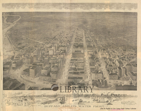 1895: Buffalo & Its Waterfront engraving