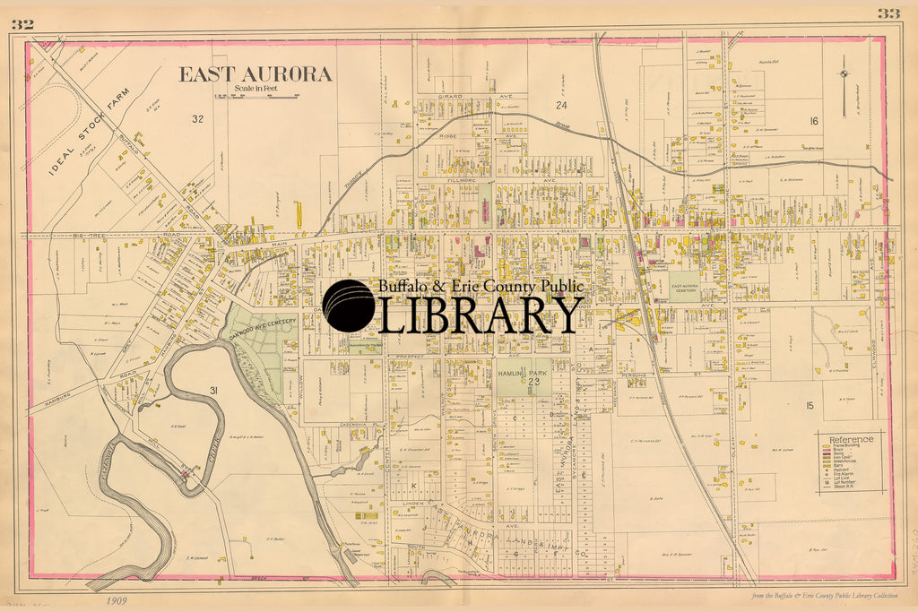East Aurora, NY Map - New Century Atlas of Erie County, New York, 1909