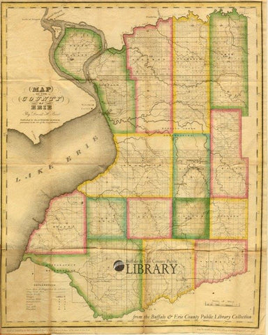 Early Map of Erie County, 1829