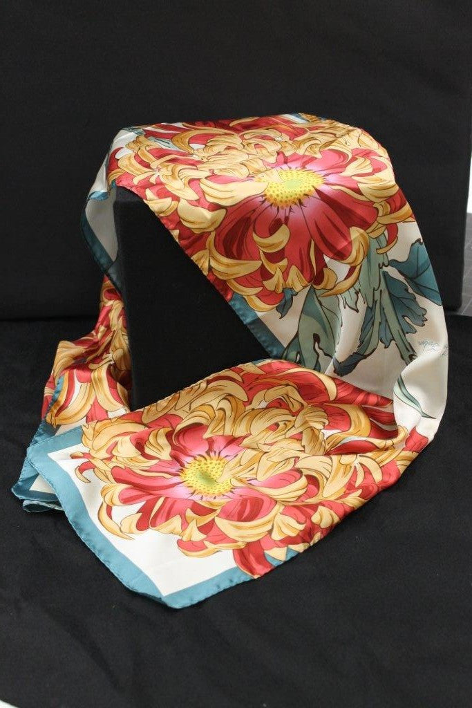 Chrysanthemums Silk Scarf