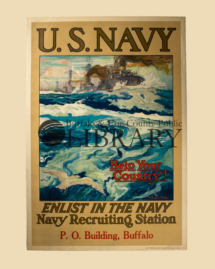 World War I Poster: Enlist in the Navy