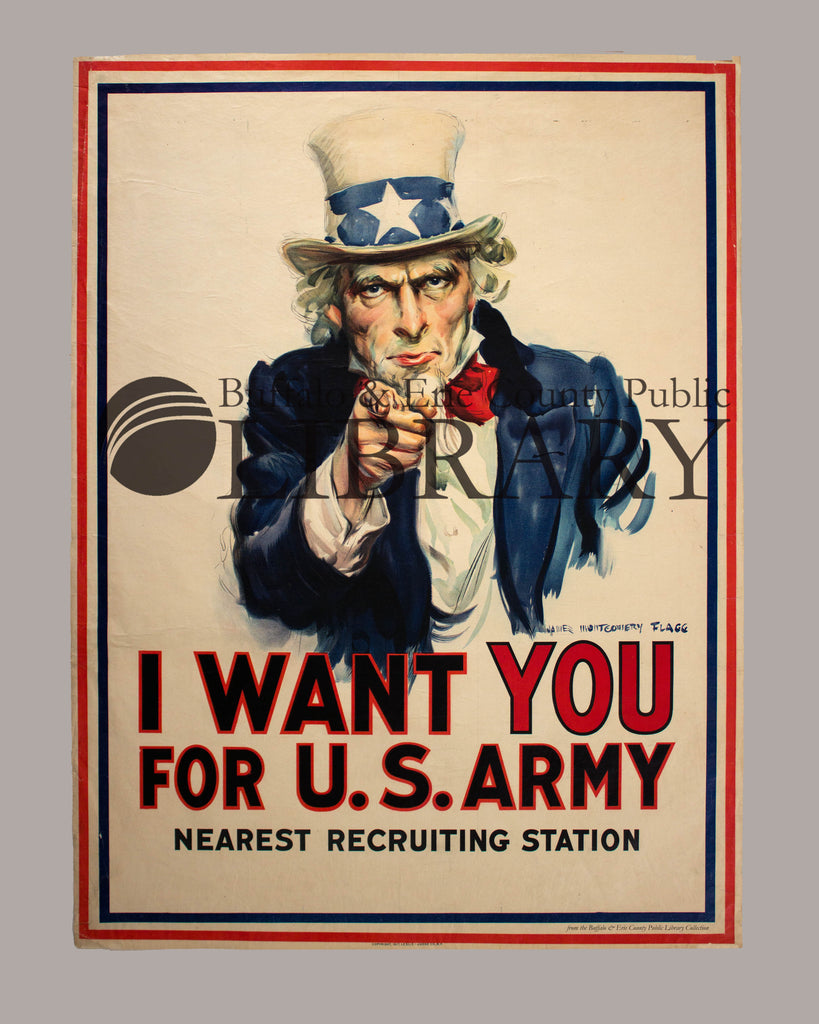 world war i poster uncle sam buffalo erie county public library