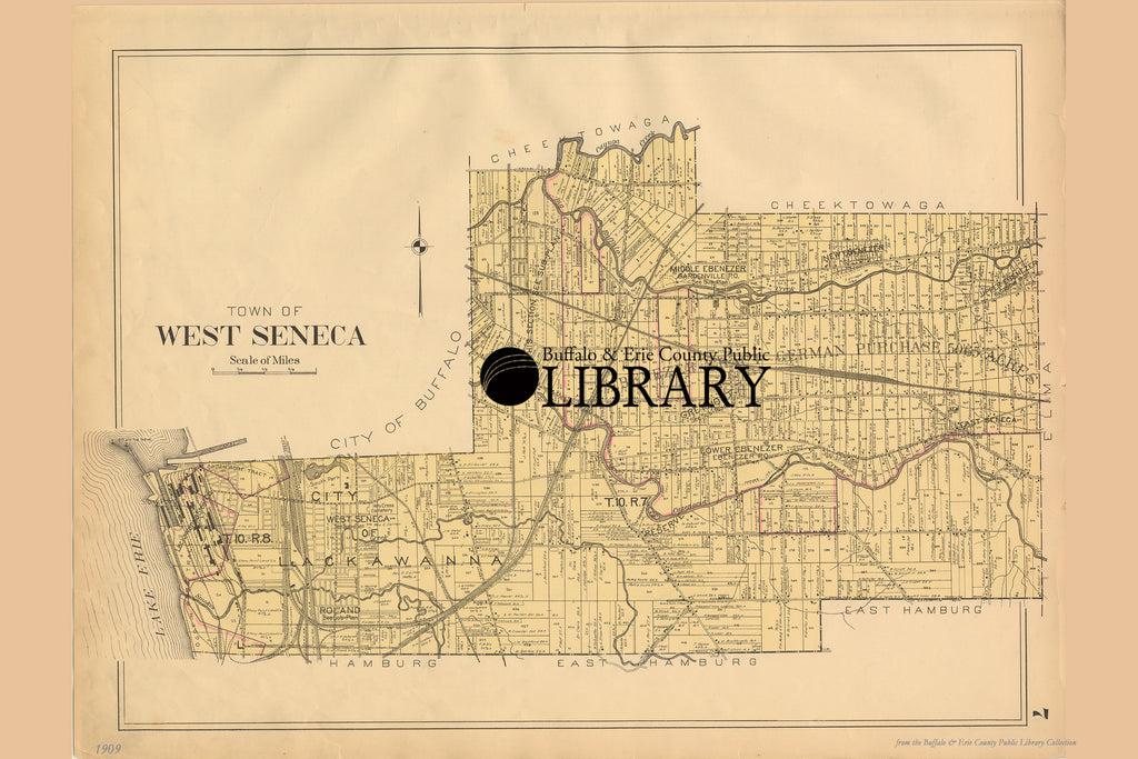 West Seneca, NY Map - New Century Atlas of Erie County, New York, 1909