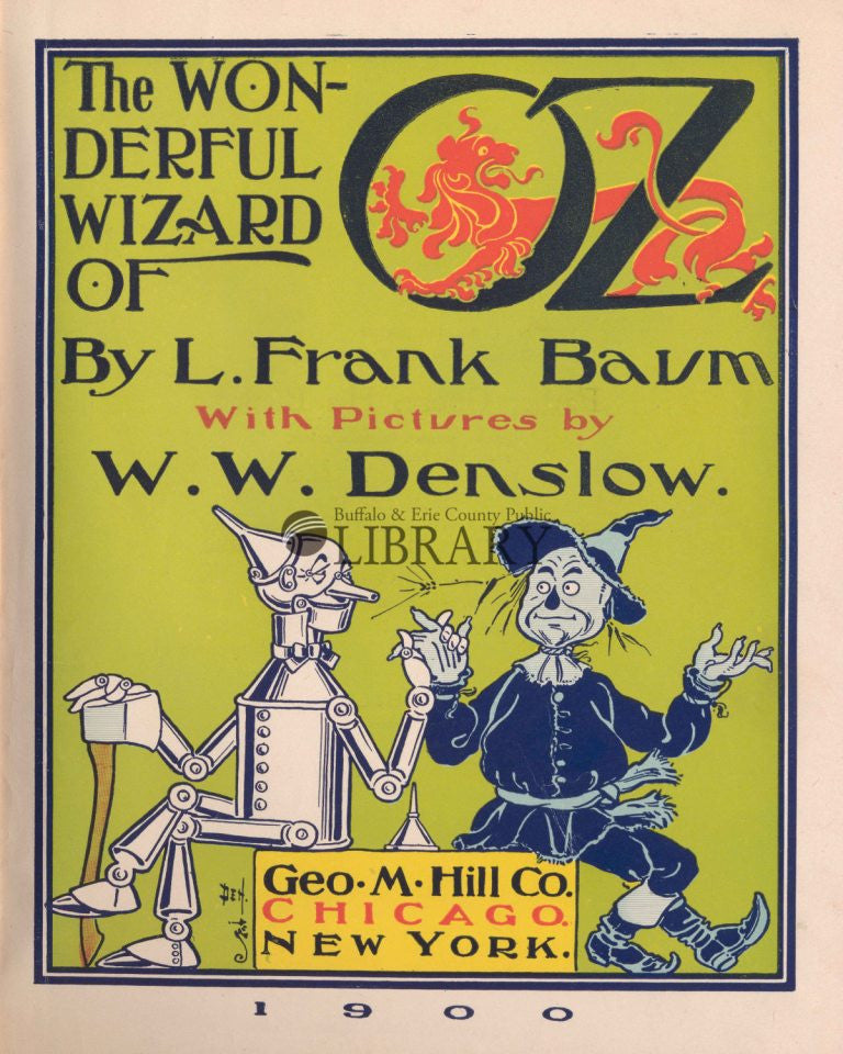 Wizard of Oz First Edition Title Page Print
