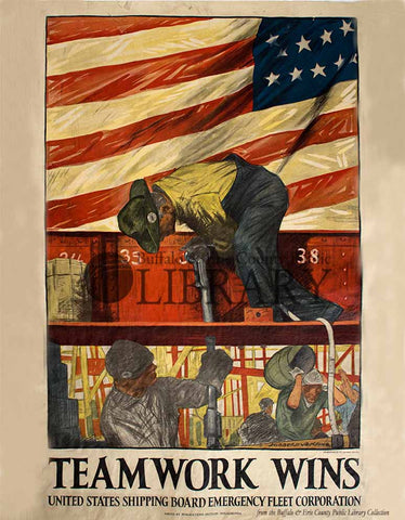 World War I Poster: Teamwork Wins
