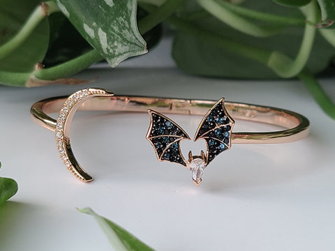 Whimsical Copper Bat Bracelet