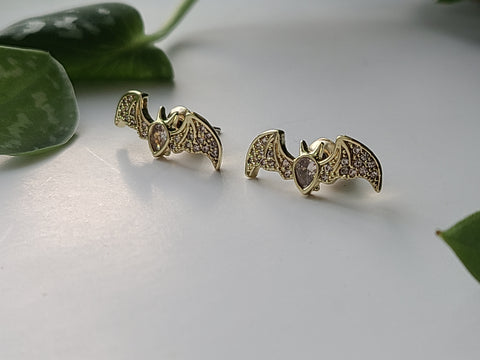 Crystal Bat Studs