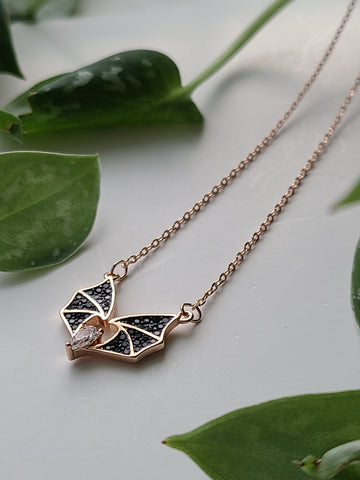 Copper Teardrop Bat Necklace
